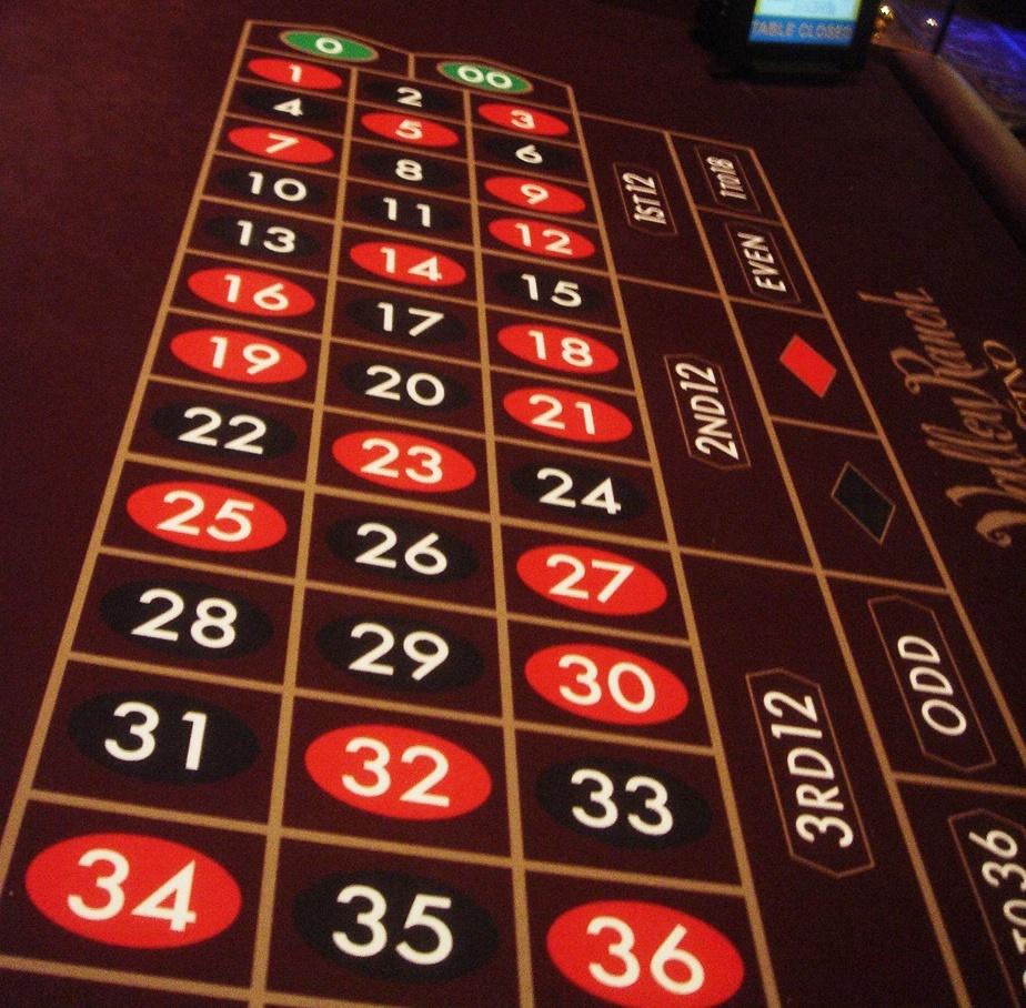 A-Double-Zero-Roulette-Table